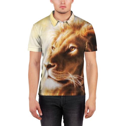 Мужская рубашка поло 3D  Фото 03, Лев