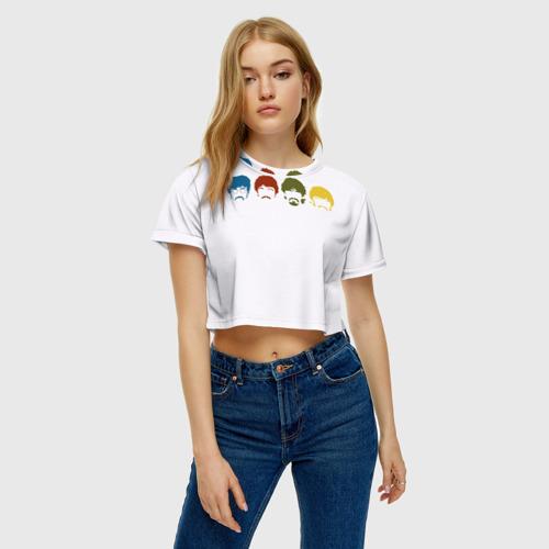 Женская футболка 3D укороченная  Фото 04, Beatles