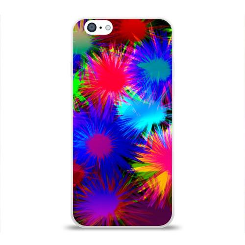 Чехол для Apple iPhone 6 силиконовый глянцевый  Фото 01, Взрывы красок