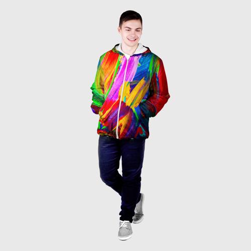 Мужская куртка 3D  Фото 03, абстракция красок