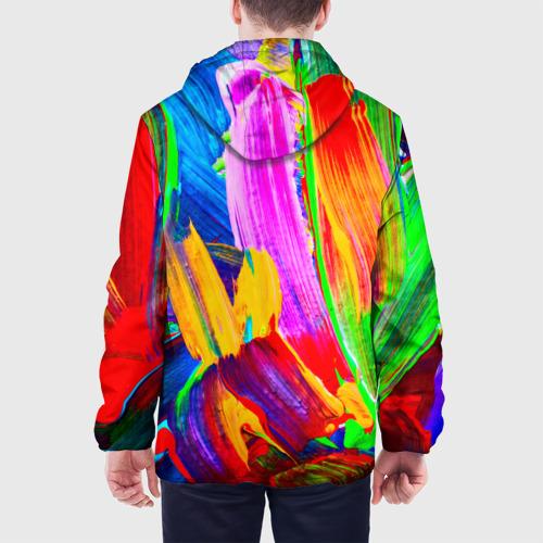 Мужская куртка 3D  Фото 05, абстракция красок