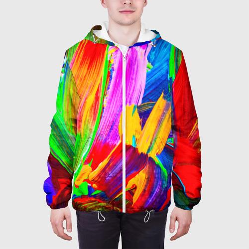 Мужская куртка 3D  Фото 04, абстракция красок