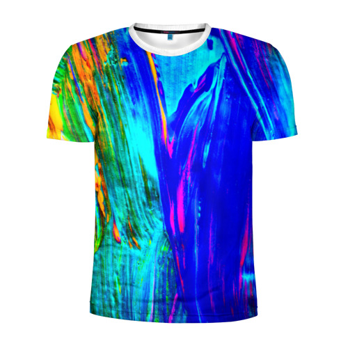 Мужская футболка 3D спортивная  Фото 01, Разводы красок