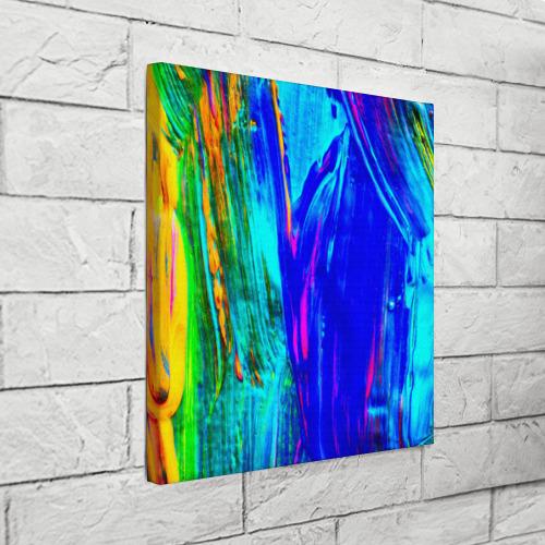 Холст квадратный  Фото 03, Разводы красок