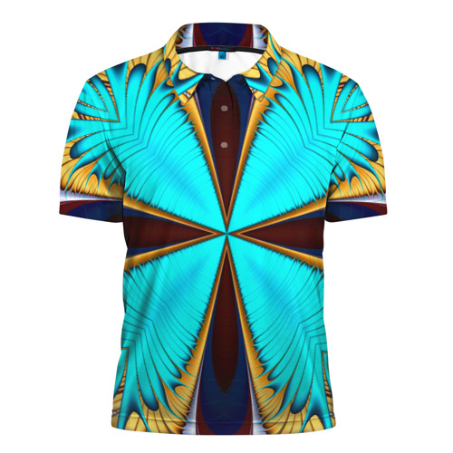 Мужская рубашка поло 3D  Фото 01, Абстрактный узор