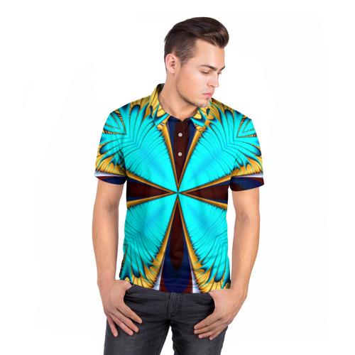 Мужская рубашка поло 3D  Фото 05, Абстрактный узор