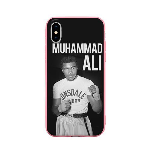 Чехол для iPhone X матовый Muhammad Ali Фото 01