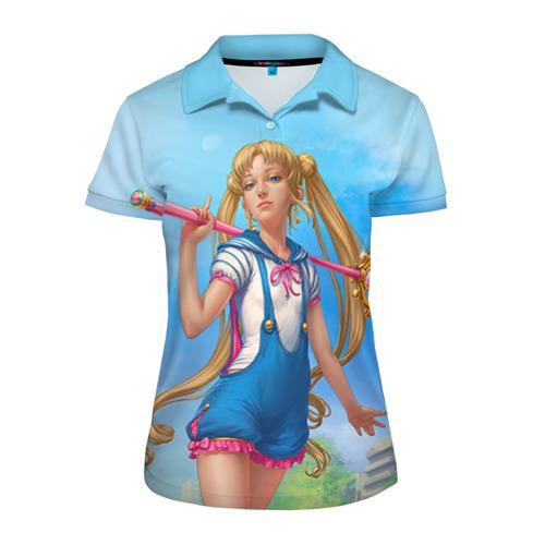 Женская рубашка поло 3D Сейлор Мун