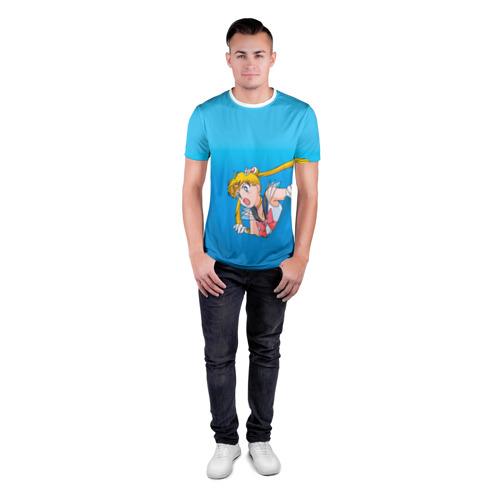 Мужская футболка 3D спортивная Сейлормун Фото 01