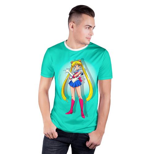Мужская футболка 3D спортивная  Фото 03, Сейлор Мун