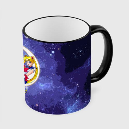 Кружка с полной запечаткой Сейлор Мун а космосе