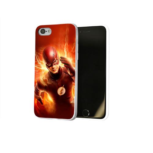 Чехол для Apple iPhone 8 силиконовый глянцевый  Фото 02, Супергерой