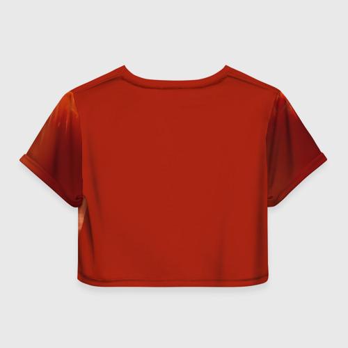 Женская футболка 3D укороченная  Фото 02, Супергерой