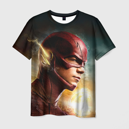Мужская футболка 3D Флеш супергерой