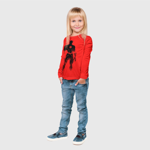 Детский лонгслив 3D  Фото 04, Флеш силуэт