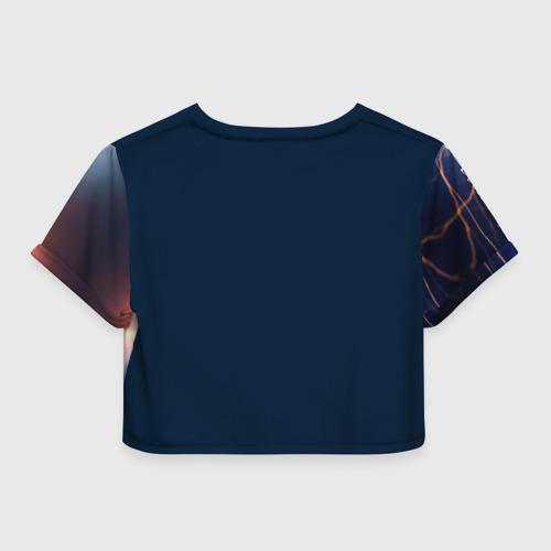 Женская футболка 3D укороченная  Фото 02, Флеш в пути
