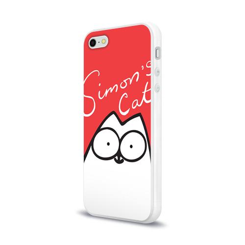 Чехол для Apple iPhone 5/5S силиконовый глянцевый Simon's cat 1 Фото 01
