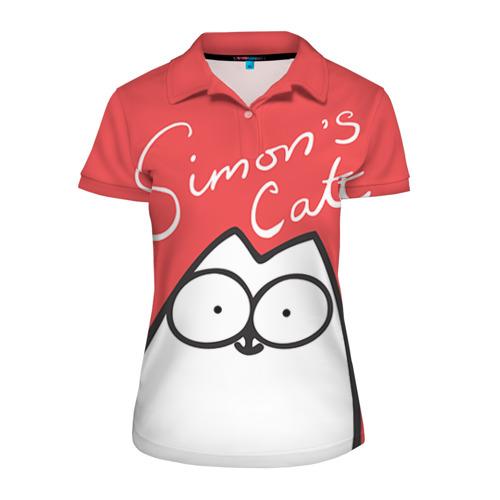 Женская рубашка поло 3D Simon's cat 1