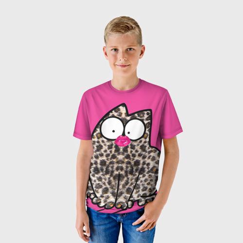 Детская футболка 3D Simon's cat 2