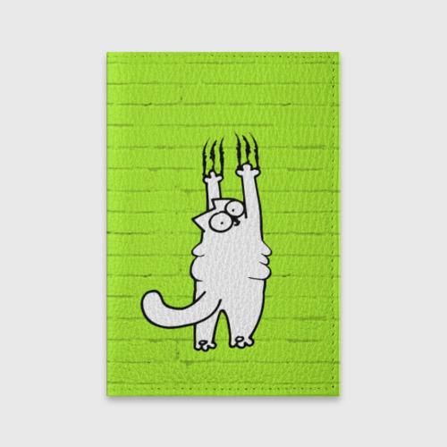 Обложка для паспорта матовая кожа Simon's cat 3 Фото 01