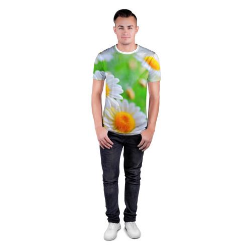 Мужская футболка 3D спортивная  Фото 04, Ромашки