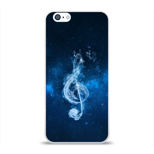 Чехол для Apple iPhone 6 силиконовый глянцевый  Фото 01, Космическая музыка
