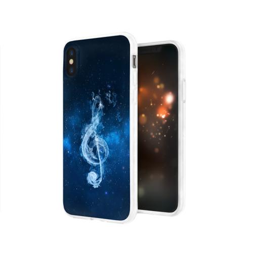 Чехол для Apple iPhone X силиконовый глянцевый  Фото 03, Космическая музыка