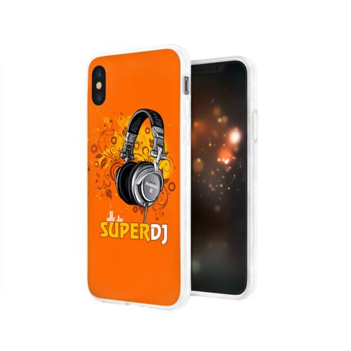 Чехол для Apple iPhone X силиконовый глянцевый  Фото 03, Super DJ