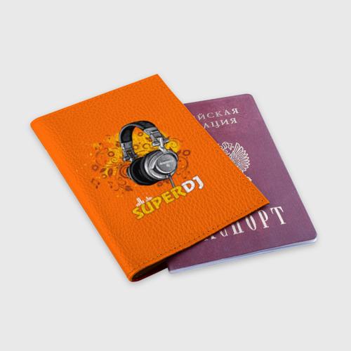 Обложка для паспорта матовая кожа Super DJ Фото 01