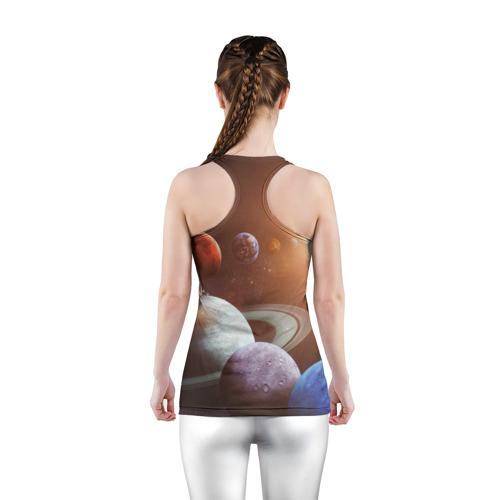Женская майка 3D спортивная Планеты солнечной системы Фото 01
