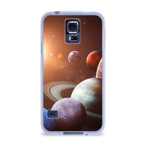 Чехол для Samsung Galaxy S5 силиконовый Планеты солнечной системы Фото 01