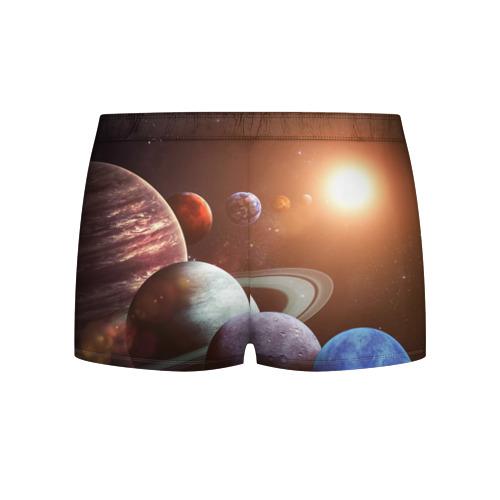 Мужские трусы 3D Планеты солнечной системы Фото 01