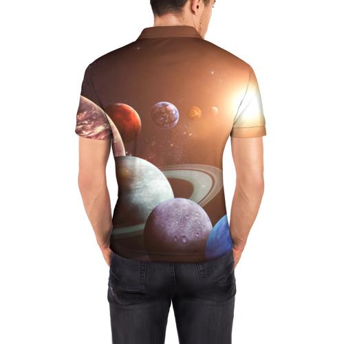 Мужская рубашка поло 3D Планеты солнечной системы Фото 01