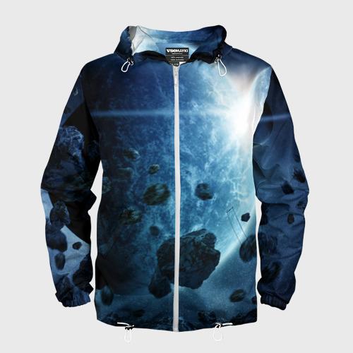 Мужская ветровка 3D  Фото 01, Холодный космос