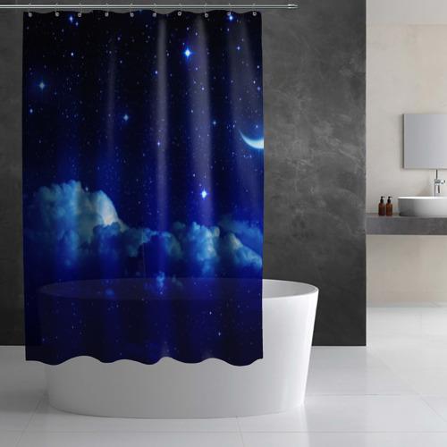 Штора 3D для ванной Звёздное небо Фото 01