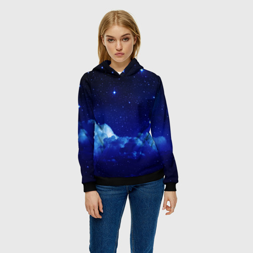 Женская толстовка 3D Звёздное небо Фото 01