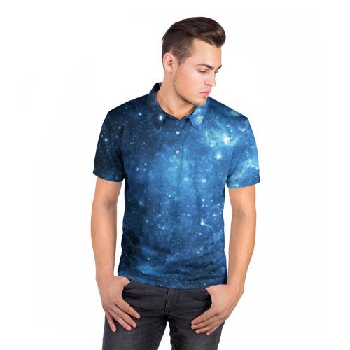 Мужская рубашка поло 3D  Фото 05, Космос