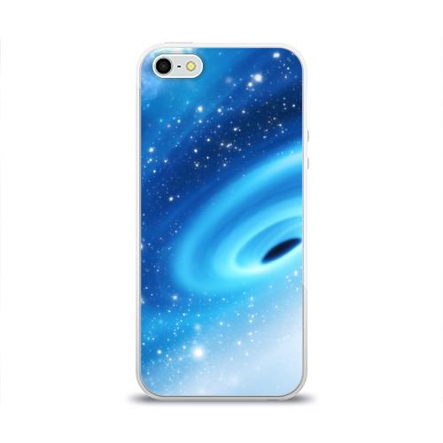Чехол для Apple iPhone 5/5S силиконовый глянцевый Неизведанная галактика Фото 01
