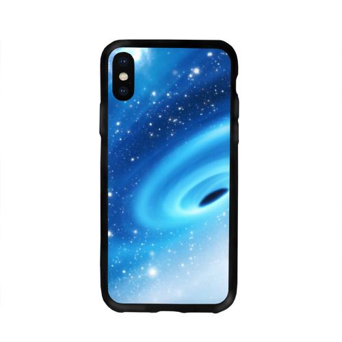 Чехол для Apple iPhone X силиконовый глянцевый Неизведанная галактика Фото 01