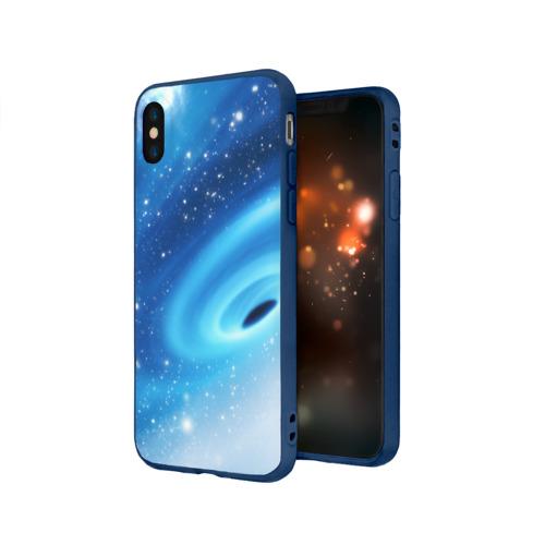 Чехол для Apple iPhone X силиконовый матовый Неизведанная галактика Фото 01