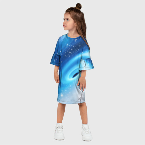 Детское платье 3D Неизведанная галактика Фото 01