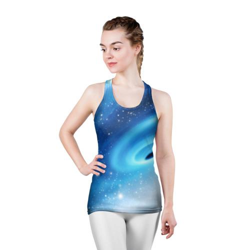Женская майка 3D спортивная Неизведанная галактика Фото 01