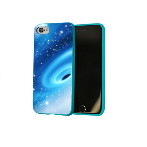 Чехол для Apple iPhone 8 силиконовый глянцевый Неизведанная галактика Фото 01