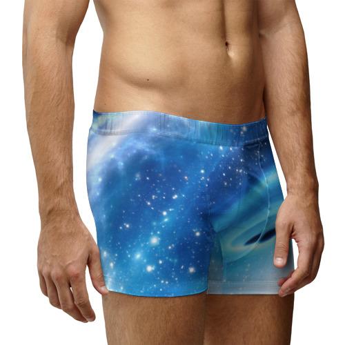 Мужские трусы 3D Неизведанная галактика Фото 01