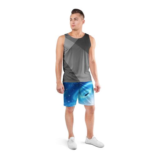 Мужские шорты 3D спортивные  Фото 04, Неизведанная галактика