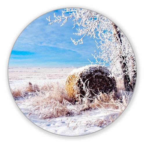 Коврик круглый Зимняя пора от Всемайки