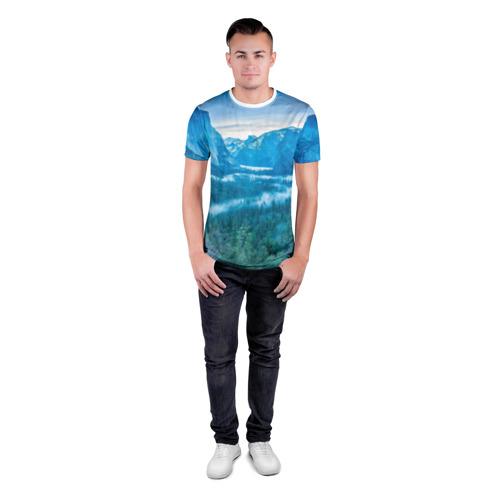 Мужская футболка 3D спортивная  Фото 04, Горный пейзаж