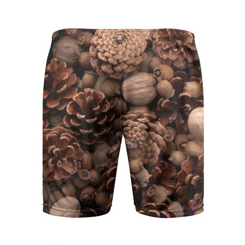 Мужские шорты 3D спортивные  Фото 02, Шишки и орешки
