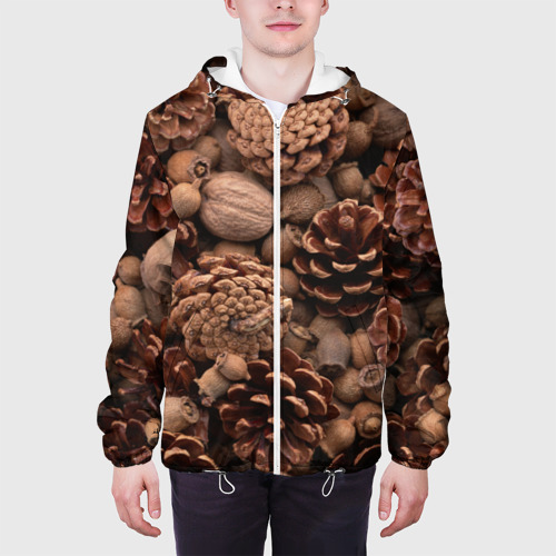 Мужская куртка 3D  Фото 04, Шишки и орешки