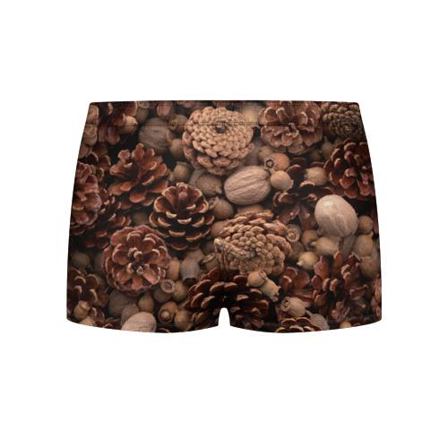 Мужские трусы 3D  Фото 02, Шишки и орешки